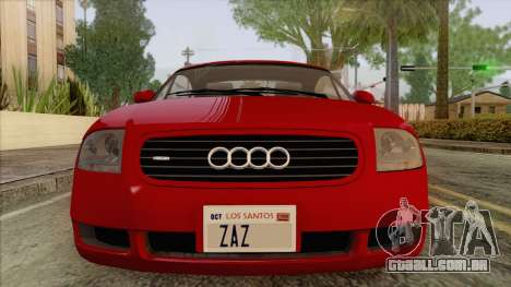 Audi TT 1.8T para GTA San Andreas vista traseira