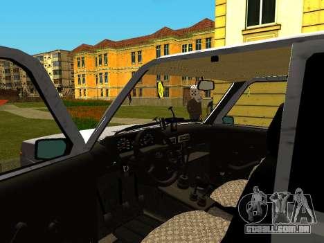 VAZ 21214 para GTA San Andreas vista traseira