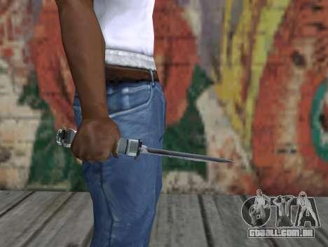 Faca de STALKER para GTA San Andreas terceira tela