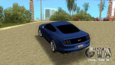 Ford Mustang GT 2015 para GTA Vice City vista traseira esquerda