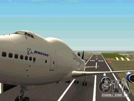 Boeing-747 Dream Lifter para GTA San Andreas vista superior