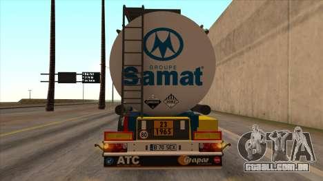 Tanque SMAT para GTA San Andreas esquerda vista