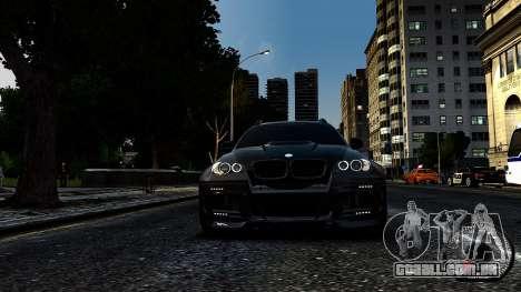 BMW X6 M Hamann 2013 Vossen para GTA 4 traseira esquerda vista