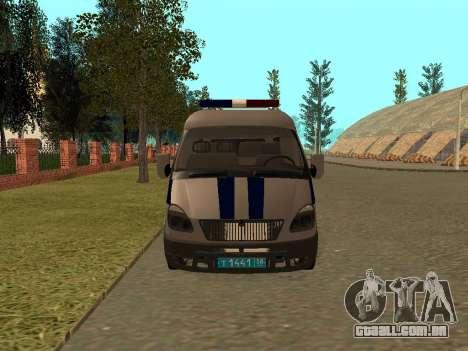 GÁS polícia Sable para GTA San Andreas esquerda vista