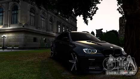 BMW X6 M Hamann 2013 Vossen para GTA 4 esquerda vista