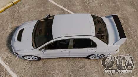 Mitsubishi Lancer Unmarked Police [ELS] para GTA 4 vista direita