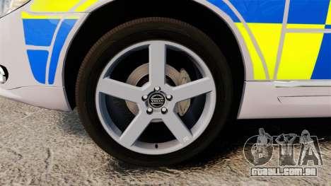 Volvo V70 Metropolitan Police [ELS] para GTA 4 vista de volta