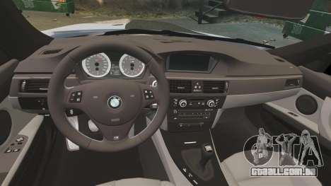BMW M3 E92 para GTA 4 vista interior