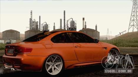 BMW M3 E92 2008 Vossen para GTA San Andreas traseira esquerda vista