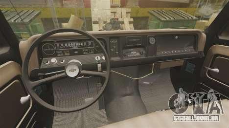 Chevrolet Tow truck rusty Rat rod para GTA 4 vista interior