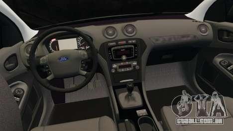 Ford Mondeo Metropolitan Police [ELS] para GTA 4 vista superior