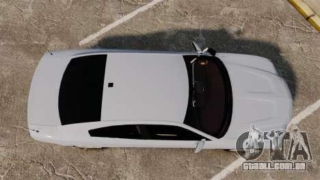 Dodge Charger RT 2012 Unmarked Police [ELS] para GTA 4 vista direita
