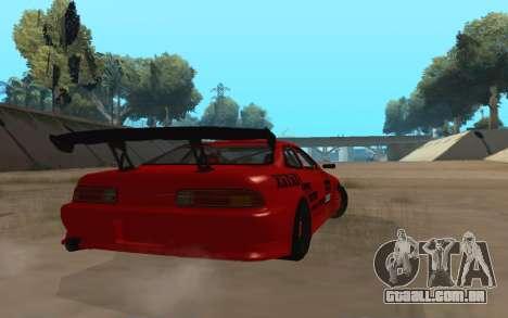Toyota Soarer para GTA San Andreas traseira esquerda vista