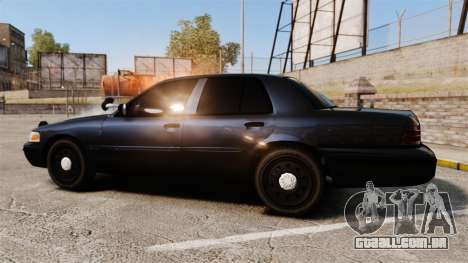 Ford Crown Victoria Stealth [ELS] para GTA 4 esquerda vista