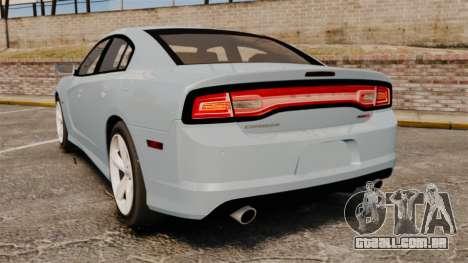Dodge Charger 2012 para GTA 4 traseira esquerda vista