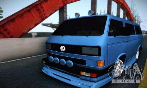 Volkswagen Transporter T2 Tuning para GTA San Andreas vista traseira