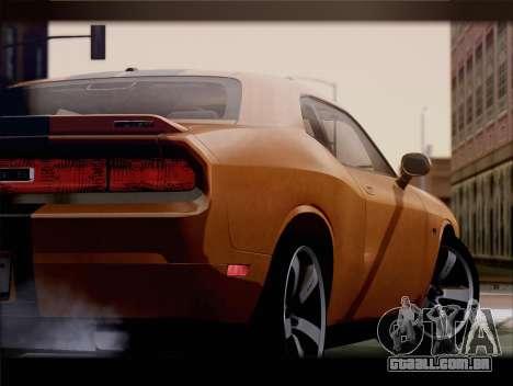 Dodge Challenger SRT8 2012 HEMI para GTA San Andreas vista traseira