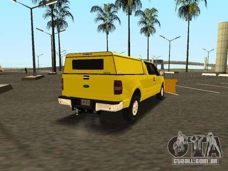 Ford F-150 para GTA San Andreas traseira esquerda vista