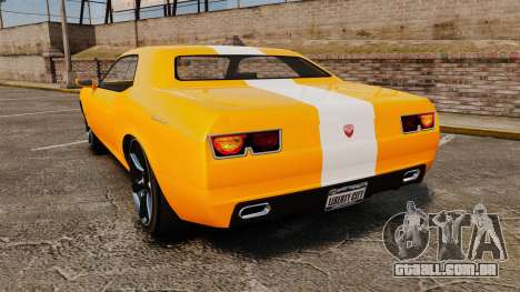 GTA V Gauntlet 450cui Turbocharged para GTA 4 traseira esquerda vista
