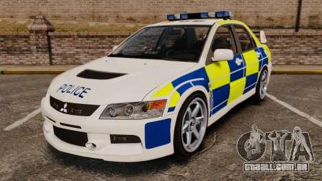 Mitsubishi Lancer Evolution IX Police [ELS] para GTA 4