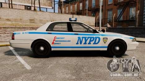 GTA V Vapid Police Cruiser NYPD para GTA 4 esquerda vista