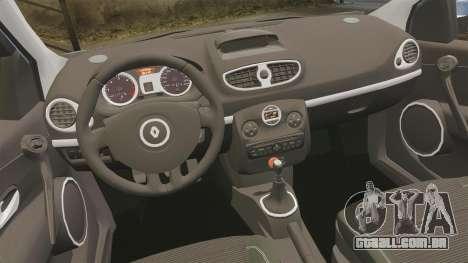 Renault Clio III Phase 2 para GTA 4 vista interior