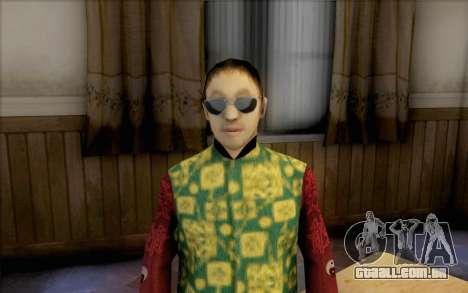 Cara asiático para GTA San Andreas terceira tela