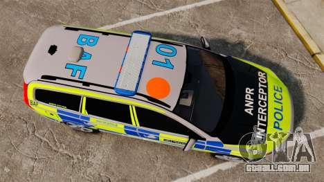 Volvo V70 Metropolitan Police [ELS] para GTA 4 vista direita