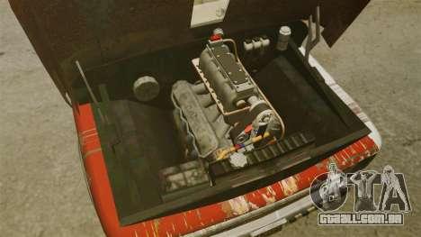 Chevrolet Tow truck rusty Rat rod para GTA 4 vista de volta