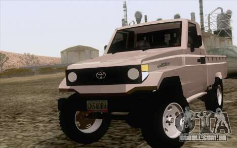Toyota Fj70 2007 Pick Up para GTA San Andreas