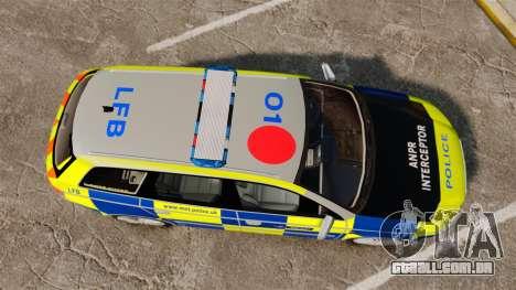 Audi S4 Avant Metropolitan Police [ELS] para GTA 4 vista direita