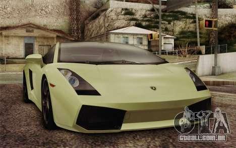 Lamborghini Gallardo SE para GTA San Andreas vista traseira