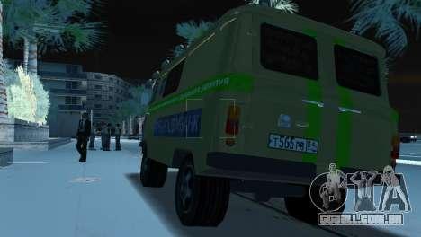 Coleção UAZ-3741 para GTA Vice City vista traseira esquerda