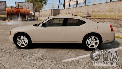 Dodge Charger Unmarked Police [ELS] para GTA 4 esquerda vista