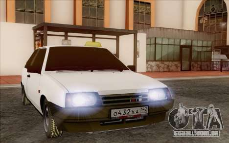 VAZ 2108 táxi para GTA San Andreas vista traseira