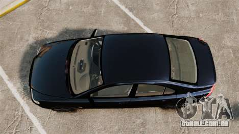Volvo S60R Unmarked Police [ELS] para GTA 4 vista direita