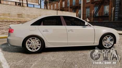 Audi S4 2010 para GTA 4 esquerda vista
