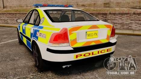 Volvo S60R Police [ELS] para GTA 4 traseira esquerda vista