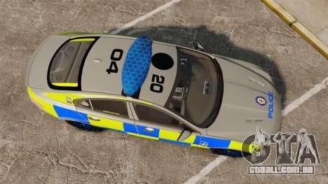 Jaguar XFR 2010 West Midlands Police [ELS] para GTA 4 vista direita