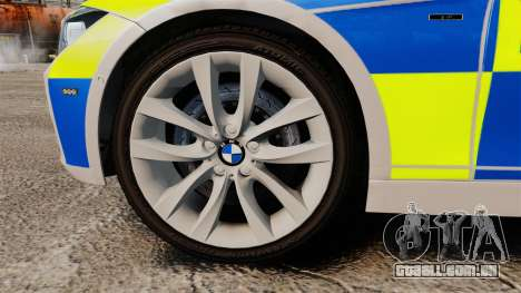 BMW F30 328i Metropolitan Police [ELS] para GTA 4 vista de volta