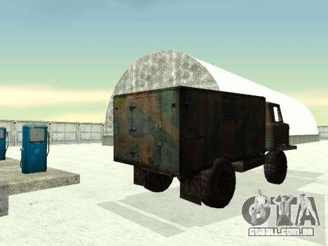 GAZ 66 para GTA San Andreas vista traseira