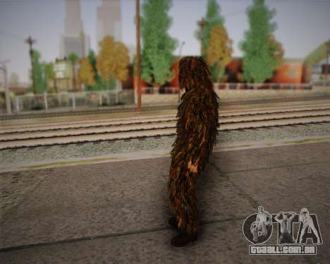 O atirador de pele de Arma 2 para GTA San Andreas terceira tela