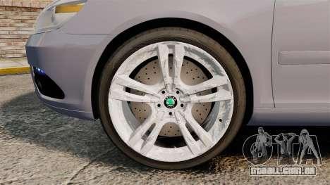 Skoda Octavia RS Unmarked Police [ELS] para GTA 4 vista de volta