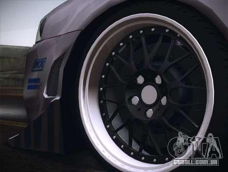 Nissan Skyline R34 FnF para GTA San Andreas vista traseira