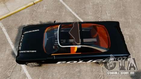 Ford Forty Nine Concept 2001 Police [ELS] para GTA 4 vista direita