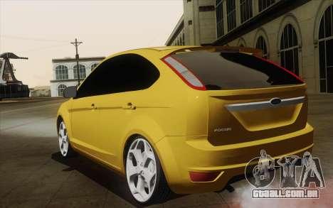 Ford Focus 2009 para GTA San Andreas esquerda vista