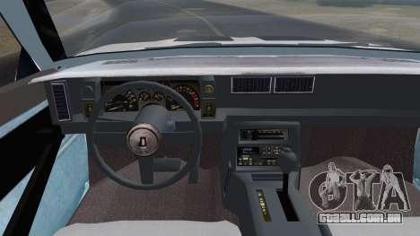Chevrolet Camaro IROC-Z 1989 FIXED para GTA San Andreas vista direita