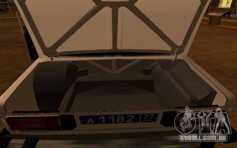 DPS VAZ 2106 para GTA San Andreas vista interior