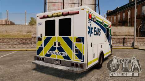 Brute Alberta Health Services Ambulance [ELS] para GTA 4 traseira esquerda vista