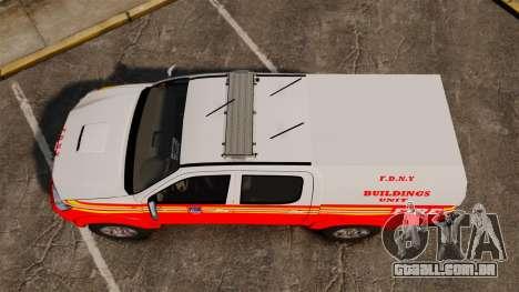 Toyota Hilux FDNY v2 [ELS] para GTA 4 vista direita